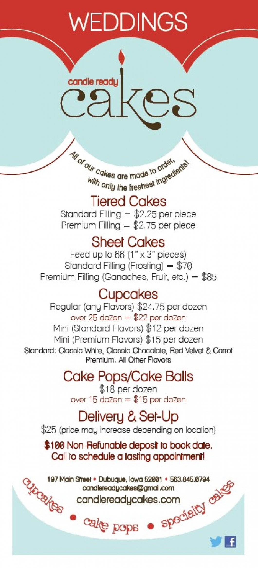 Wedding Pricing   Candle Ready Cakes