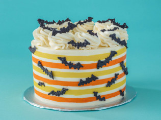 Striped Bat Cake